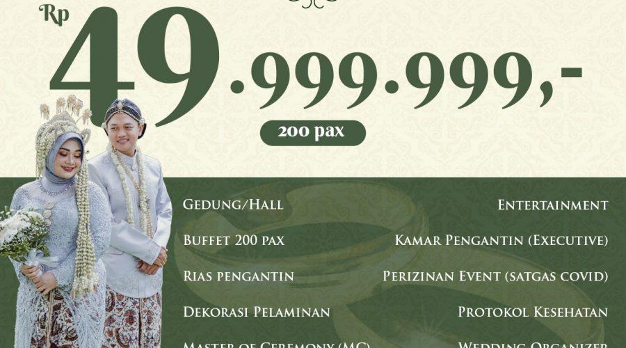 PAKET PERNIKAHAN MULAI Rp. 49.999.999