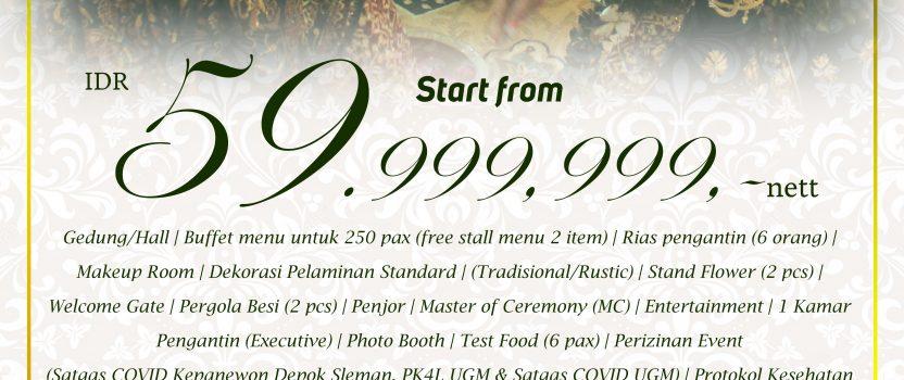 PAKET PERNIKAHAN MULAI Rp. 59.999.999