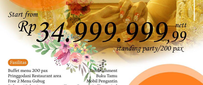 PAKET PERNIKAHAN MULAI Rp. 34.999.999
